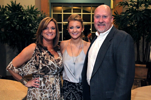 6 Bernice King, from left, Kelly King Kevin King at the Mercedes-Benz of Sugar Land Cystic Fibrosis Event October 2014