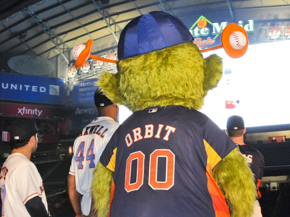 Astros mascot Orbit
