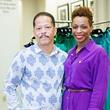 Harold Johnson and Tijuana Harvey at the Houston Symphony Retrospective Exhibit event March 2014