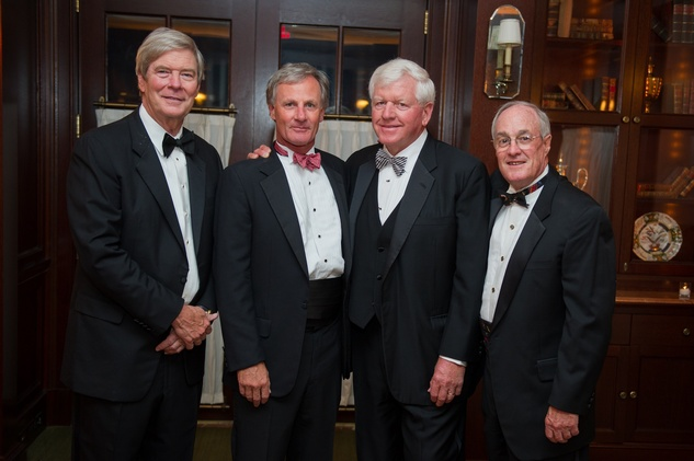 Buddy Hopson, from left, Roger Plank, Dan Flournoy and William Junell at the Alley Theatre Wild Things Dinner October 2014