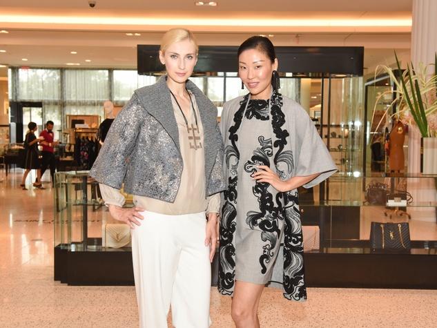 Tootsies Josie Natori brunch Neil Hamil models Irena, Yuan Yuan