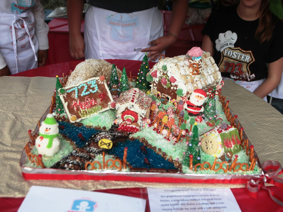 Architecture Center Houston and AIA Houston Gingerbread Build-off winners December 2014 High School Challenge