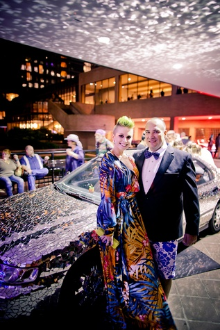 223 Caitlin V. Neal and Packy Saunders at the Art Car Ball April 2015