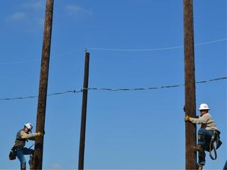 Austin Electricity Poles Forklift Event