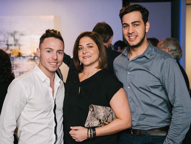17 Travis Player, from left, Lisa Goachman and Roi Alan at CultureMap fifth anniversary birthday party October 2014