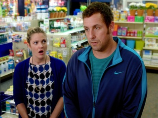 Drew Barrymore and Adam Sandler in Blended