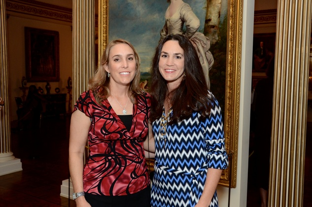Amanda Myres, left, and Marilee Myres at the Rienzi Punch Party October 2014