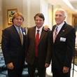 Gary Laborde, from left, Bill Flores and Gary Wooley at the LSU Foundation luncheon June 2014