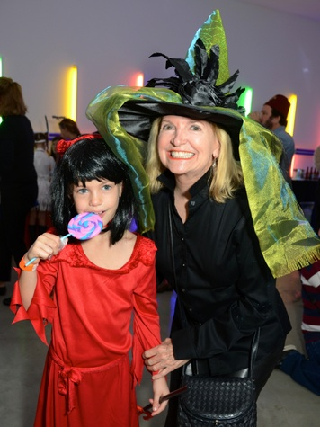 12 Alexandra Foutch, left, and Cora Bess Meyer at The Menil Collection Halloween party October 2013