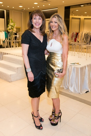 Elizabeth Stein, left, and Patti Murphy at the Women of Distinction announcement party October 2014