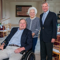 Barbara Bush Literacy Luncheon, 4/16, President George H.W. Bush, Barbara Bush, Jon Meachem
