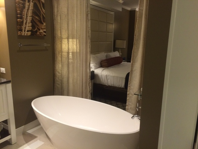 View of Golden Nugget room from bathroom