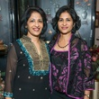 Geetha Mammen, left, and Sueha Kuruvilla at the Abraham's Oriental Rug dinner September 2014