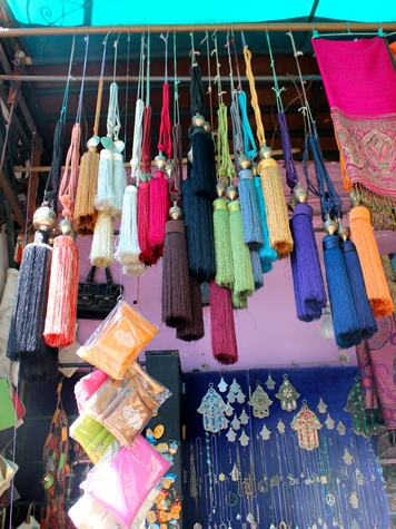 travel photos by Laurier Blanc June 2014 Souk Tassels Marrakech