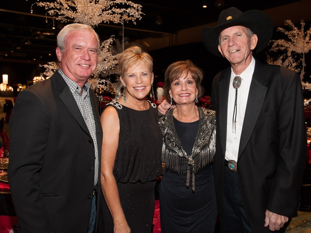 Rick and Margie Crump, from left, and Jackie and Pat Riley at the Northwest Ministries Gala October 2013
