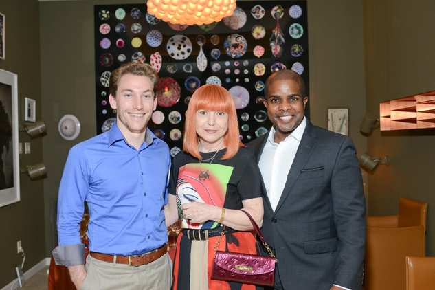 19 Morgan Sean McCright, from left, Elena Htun and Alton LaDay at the Christofle event June 2014