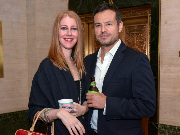 29 Rebecca Schmidt and Mauricio Guzman at Preservation Houston's Pier & Beam #ThrowbackThursday Party November 2014