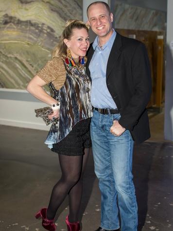 Shona and Arlo Gilbert, light the runway kick off event