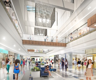 Rending of Galleria near new Saks Fifth Avenue