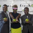 Leslie Jackson from left, Shavonnah Roberts Schreiber, and Chris West at the f.r.e.s.h. new young professionals group party june 2014.