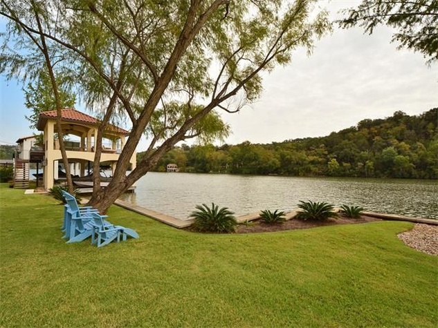 Lake view at 8300 Big View Dr. in Austin