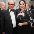 Adolpho Leirner and  Deborah Roldán at the MFAH Latin American Experience November 2013