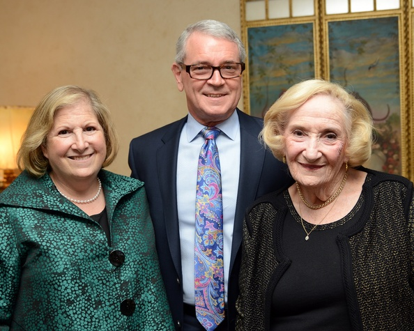 3 Ginger and Byron Bertrand, from left, with Sybil Roos at the Celebration of Champions kick-off September 2014