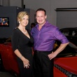 Melanie Campbell and Scott Langham at fashion preview party in The Woodlands