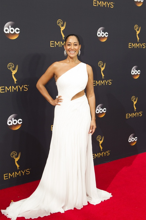 Tracie Ellis Ross in Ralph Lauren gown at Emmy