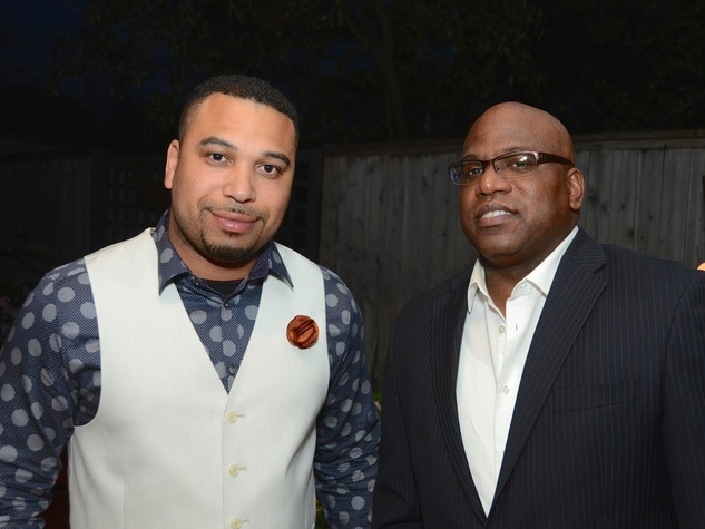 50 Chad Cossey, left, and Marcus Stewart at the CultureMap Social at Gremillion and Co. Fine Art March 2015