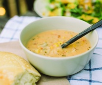 Panera Bread corn chowder