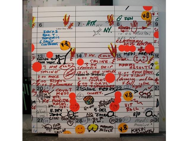 Artist of the Year 2013, Rachel Hecker, note board, calendar