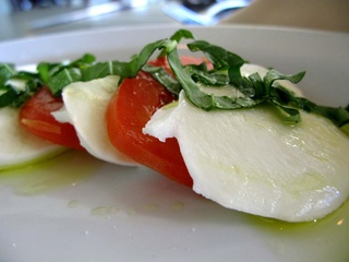 Caprese salad at La Perla Italian restaurant in Dallas