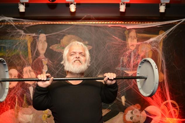 Jetspeed Productions strong man at Hotel ZaZa's Halloween Bash November 2014