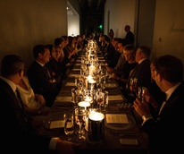 Tom Ford dinner at Menil Collection, crowd shot