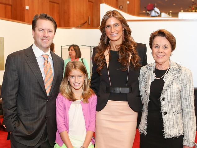 Michael Mithoff, from left, Mia Mithoff, Melissa Mithoff and Ginni Mithoff at the SPA luncheon October 2013