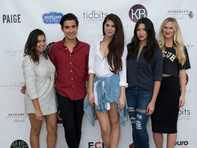 7 Mishelle Echeverria, Gabe Rafael, Jordan Newman, Kim Truong and Ricki Lee Mercer at the KB Kasuals party September 2014