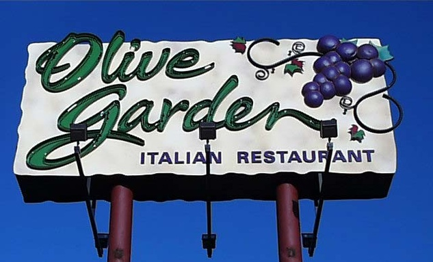 Olive Garden billboard