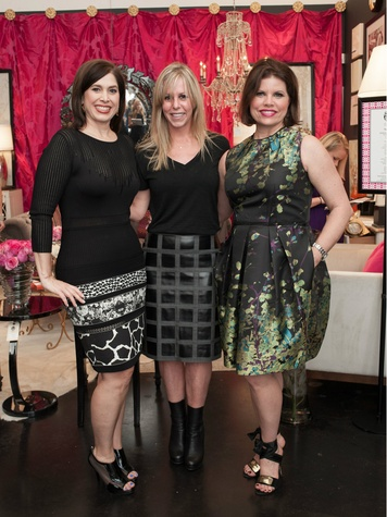 Tobi Fairley, Cathy Hodges, Denise McGaha, Dwell With Dignity grand opening