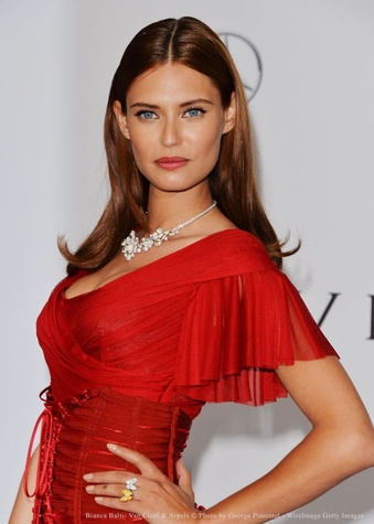 Houston, River Oaks District, June 2015, Italian model Bianca Balti in Van Cleef & Arpels