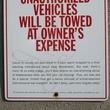 News_Unauthorized vehicles_sign