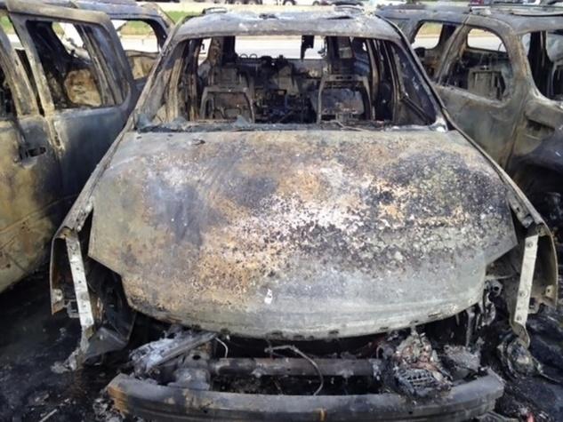 Tom Peacock Cadillac crash and fire May 2014