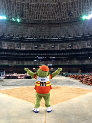 Astrodome public tour 50th anniversary party April 2015 Orbit took it all in at the 50th birthday party THIS