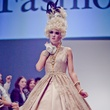 Houston, Fashion Fusion, June 2015, modelbeige/gold gown by Samira Craig