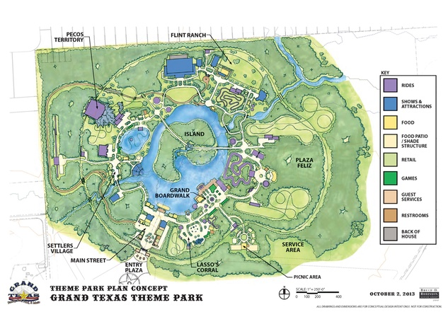 Grand Texas theme park plan concept