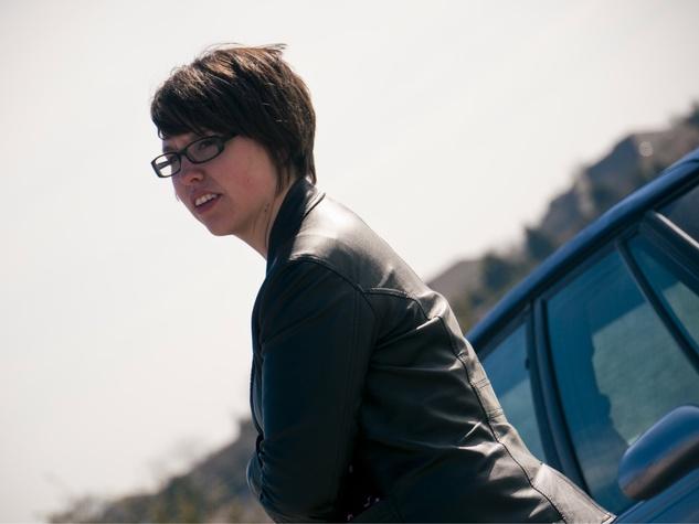 Rachel Shepherd on the set of feature film Traveling