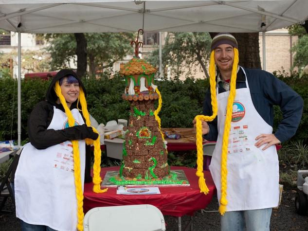 1 Annual AIA Gingerbread build-off December 2013 Rapunzel's castle