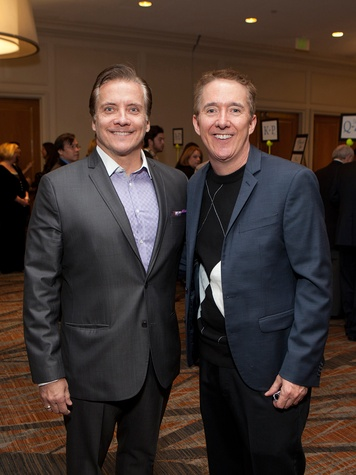 Sean Rudolph, left, and Brad Blume at the Houston Tennis Association Gala February 2014