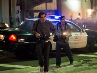Jake Gyllenhaal and Riz Ahmed in Nightcrawler