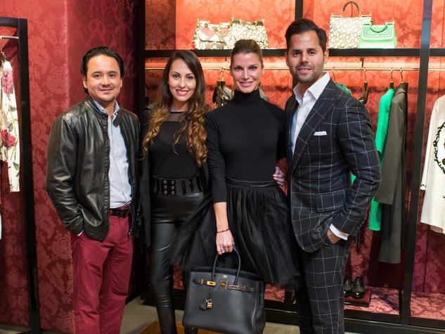 News, Shelby, Dolce & Gabbana dinner, Nov. 2015., Carlos Gomez, Sandra Villa, Stefanie Cotton, Manolo Elias